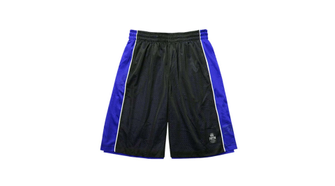 FIRESTAR 男短褲-籃球 雙面穿 黑寶藍@B3702-92@