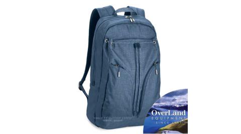 【美國 OverLand】Lassen 輕量日用型多功能後背包21L.15吋電腦背包.書包/防潑水/OL151NBE0153 天藍