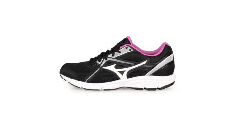 MIZUNO MAXIMIZER 22 女慢跑鞋-WIDE-寬楦 路跑 美津濃 黑白粉紫@K1GA200160@
