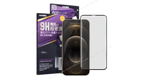 NISDA for iPhone 12 Pro Max 6.7吋 滿版霧面鋼化玻璃保護貼-黑色