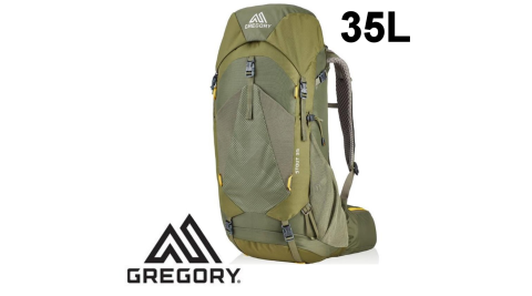 【Gregory】專業健行登山背包 35L STOUT 男 茴香綠 (126871-1333) 登山背包