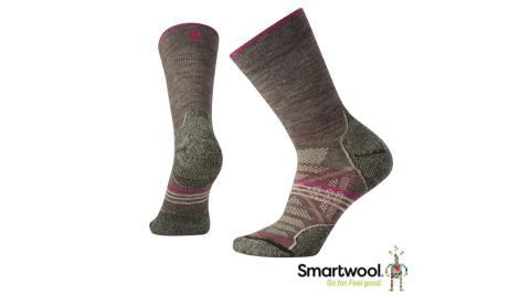 【SmartWool 智慧羊毛】SW001311236-女PhD戶外輕量避震襪-灰褐色 登山襪 羊毛襪 襪子