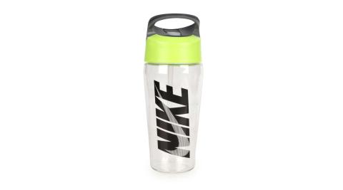 NIKE TR吸管式水壺 16OZ-慢跑 路跑 單車 自行車 登山 運動水壺 透明黑綠@N000003599316@