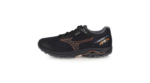 MIZUNO WAVE RIDER GTX 男慢跑鞋-路跑 美津濃 黑棕@J1GC187910@