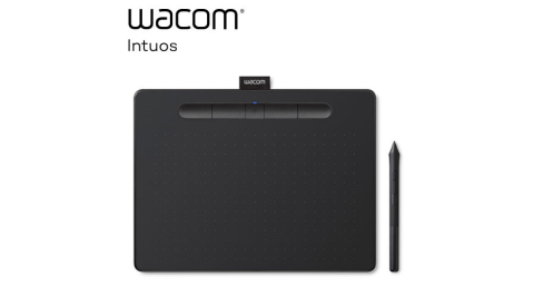 【WACOM】Intuos Comfort Plus Medium 繪圖板 CTL-6100WL (藍芽版) - 黑