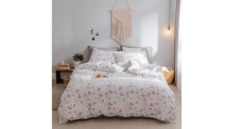【KOKOMO'S扣扣馬】MIT天然精梳棉200織紗單人床包2件組-花朵暗香