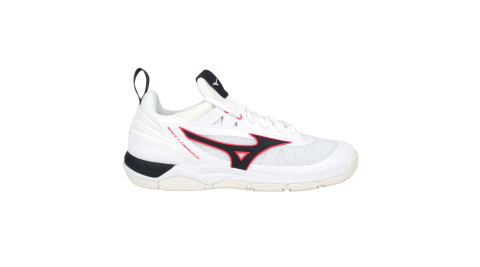 MIZUNO WAVE LUMINOUS 男排球鞋-訓練 運動 美津濃 白黑紅@V1GA182065@