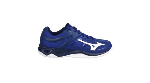 MIZUNO THUNDER BLADE 2 男女排球鞋2.5E-訓練 美津濃 深藍白@V1GA197020@