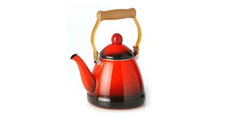 【dhk】台灣製 漸層 琺瑯茶壺 1140cc 露營 低碳鋼 水壺 煮水壺 茶壺