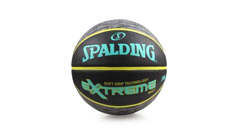 SPALDING SGT-RUBBER 籃球-7號球 斯伯丁 黑湖水綠@SPA83499@