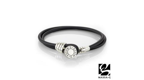 MASSA-G Artemis 銀鍺系列《Muse》謬斯3MM鍺鈦能量雙圈手環