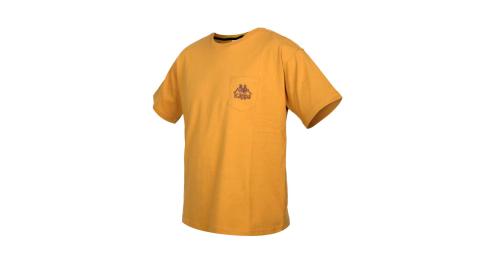 KAPPA 男短袖T恤-純棉 台灣製 休閒 上衣 棕褐@32191TW-Z07@