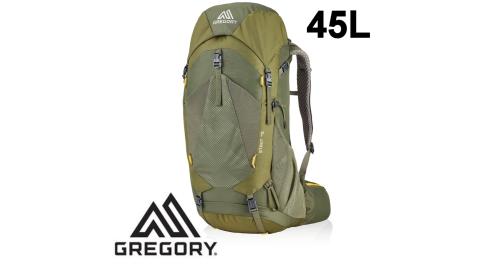 【Gregory】專業健行登山背包 45L STOUT 男 茴香綠 (126872-1333) 登山背包