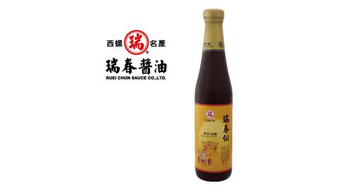 《瑞春》瑞春伯黑豆油膏(500g±10g/瓶,共12瓶入)