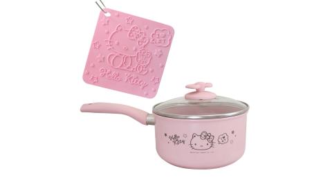 KITTY 陶瓷單柄湯鍋18cm(附鍋墊x1)OT-1810A