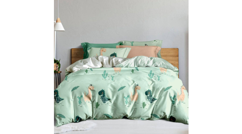 LAMINA 恐龍樂園 100%天絲枕套床包組 加大