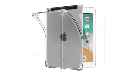 CITY for iPad Air/Air2/Pro 9.7/9.7(2017)/9.7(2018) 通用款 平板5D 4角軍規防摔殼+專用玻璃貼組合