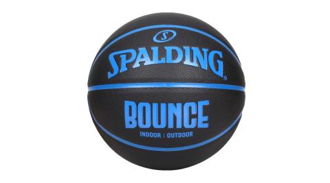 SPALDING BOUNCE 籃球-PU-7號球 室內 戶外 訓練 運動 斯伯丁 黑藍@SPB91004@