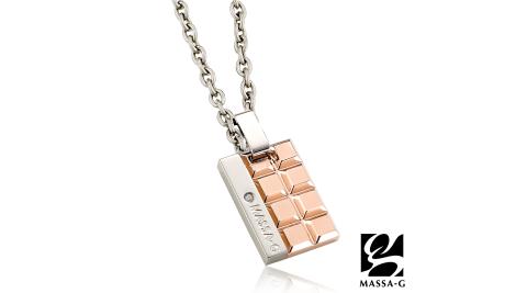 MASSA-G deco系列【玫瑰巧克蕾特】金屬鍺錠純鈦項鍊