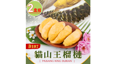 水產優-貓山王榴槤D197 兩盒組