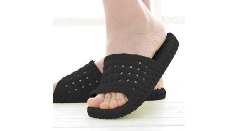 韓版超柔浴室瀝水防滑拖鞋 (男款) 黑色