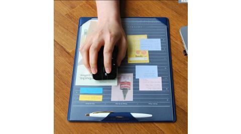 【COMET】韓版簡約分層計畫板滑鼠墊-藍色(EB-E13-2)