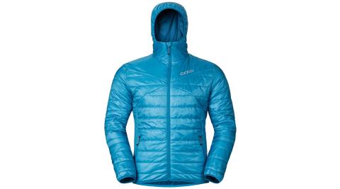 【瑞士ODLO】525162 男款 primaloft 長效保暖防風防潑水保暖外套(小丑紅/灰藍) 雙面可穿