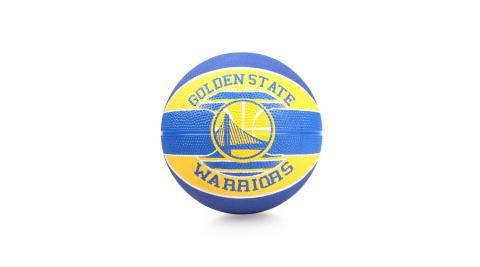 SPALDING WARRIORS SZ3 兒童-勇士 籃球-3號球 隊徽球 斯伯丁 藍黃@SPA83617@