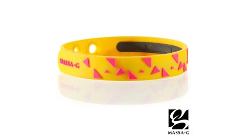 MASSA-G【Rhythm韻律-螢光黃】鍺鈦能量舒壓手環