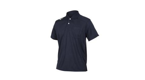MIZUNO 男短袖POLO衫-短袖上衣 高爾夫 網球 美津濃 丈青白@32TA002014@