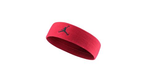 NIKE JORDAN JUMPMAN 單色頭帶-飛人喬登 籃球 NBA 一條入 紅黑@JKN00605OS@
