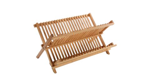 《VERSA》折疊式竹製碗盤瀝水架