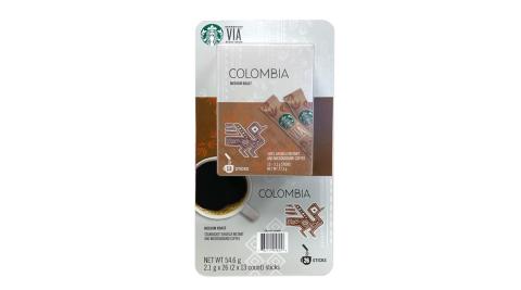 STARBUCKS VIA 哥倫比亞即溶研磨咖啡 2.1公克 x 26入/組
