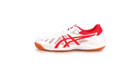 ASICS ATTACK HYPERBEAT SP 3 男女桌球鞋-乒乓球 白紅@1073A004-101@