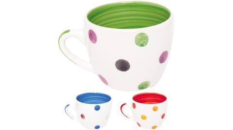 《EXCELSA》陶製濃縮咖啡杯(彩色水珠90ml)