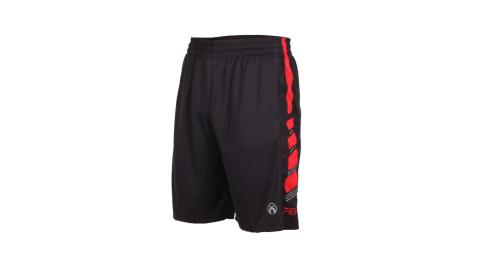 FIRESTAR男吸濕排汗籃球短褲球褲慢跑黑紅B920140