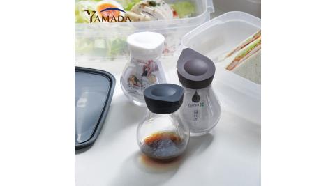 【日本山田YAMADA】按壓定量式PET油醋醬料分裝瓶-140ml-3入組(三色)