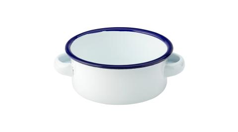 《Utopia》雙耳琺瑯餐碗(藍10cm)