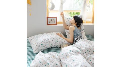 【KOKOMO'S扣扣馬】MIT天然精梳棉200織紗單人床包雙人被套三件組-孟夏之戀