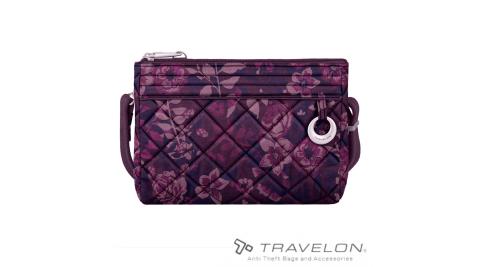【TRAVELON】TL-33222 Boho彩繪手持斜背包 紫紅印花 手提包 防盜包 安全 出國旅遊