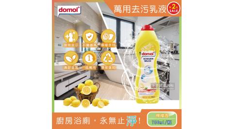 2瓶超值組【德國domol】居家陶瓷不鏽鋼強力去油去污乳液萬用清潔劑750ml*2瓶
