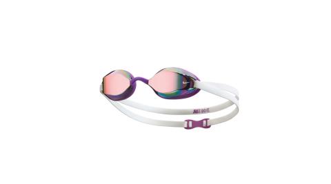 NIKE SWIM 成人專業型面鏡泳鏡-游泳 蛙鏡 抗UV 防霧 訓練 紫白@NESSA178-990@