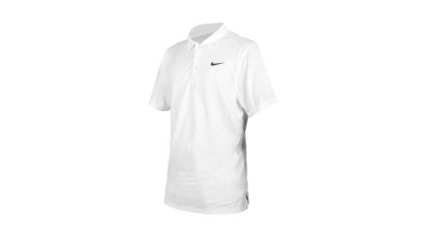 NIKE 男短袖POLO衫-運動 休閒 上衣 高爾夫 網球 DRI-FIT 白黑@APS080-100@