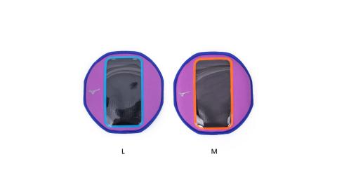 MIZUNO 手臂包-慢跑 路跑 手機包 5.5吋螢幕適用 美津濃 紫橘@D3TY601067@