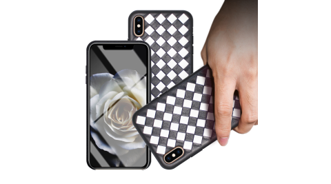 CITYBOSS for iPhone XS Max 黑白穿搭真皮手機保護殼
