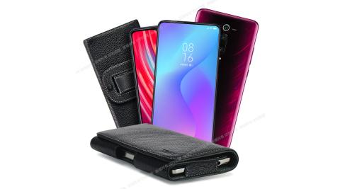 Xmart for 紅米Note8 Pro/小米9T/小米9T Pro 麗緻真皮腰掛皮套
