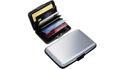 《REFLECTS》RFID硬殼防護證件卡片盒(霧銀)