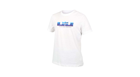NIKE 男短袖T恤-DRI-FIT 慢跑 路跑 運動 上衣 LEBRON 白藍@DB6179-100@