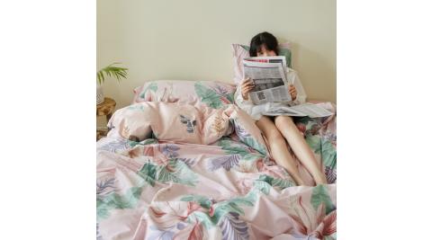 【KOKOMO'S扣扣馬】MIT天然精梳棉200織紗單人床包雙人被套三件組-希望植物園