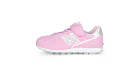 NEWBALANCE 女中童復古慢跑鞋-WIDE-寬楦 NB 996系列 粉紅白銀@YV996PRP@